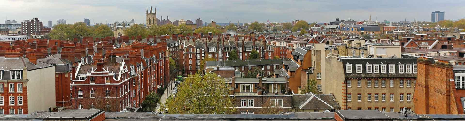 ロンドン – South Kensington地区のユースホステル. 地図 ロンドン, すべてのユースホステルの写真とレビュー ロンドン.