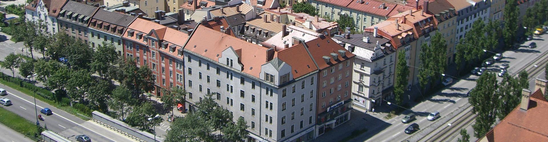 ミュンヘン – Westend地区のユースホステル. 地図 ミュンヘン, すべてのユースホステルの写真とレビュー ミュンヘン.