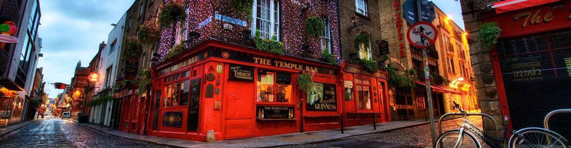 ダブリン – Temple Bar地区のユースホステル. 地図 ダブリン, すべてのユースホステルの写真とレビュー ダブリン.