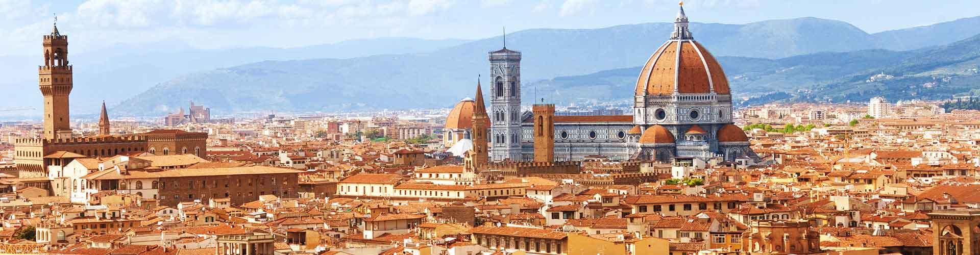 フィレンツェ – Fortezza da Basso地区のユースホステル. 地図 フィレンツェ, すべてのユースホステルの写真とレビュー フィレンツェ.